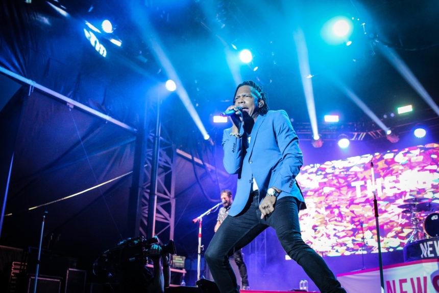Matthew Tate on stage