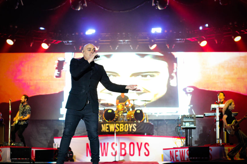 Newsboys united on stage